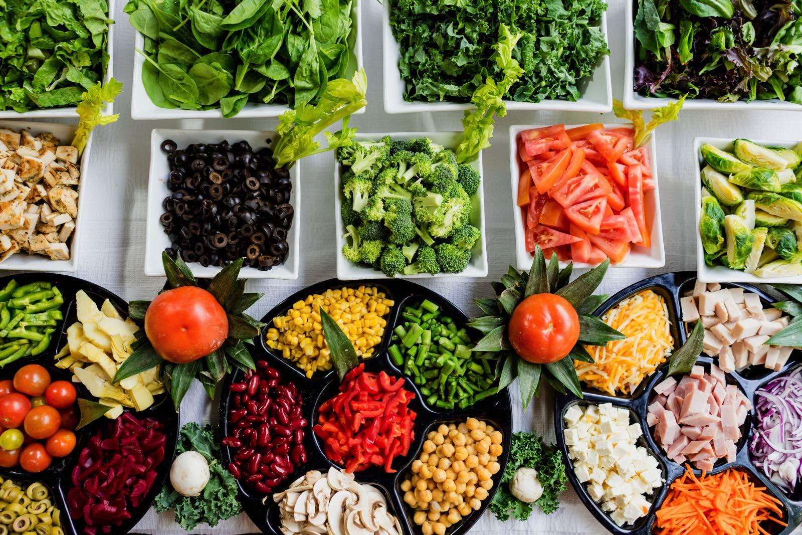 Bowls of salad